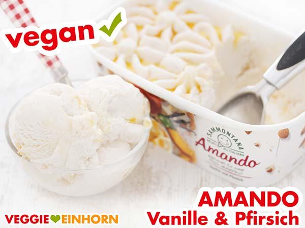 Veganes Vanille Pfirsich Eis