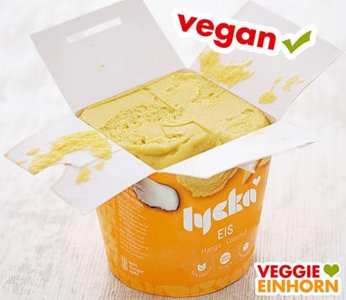 Veganes Eis Lycka Mango Kokos