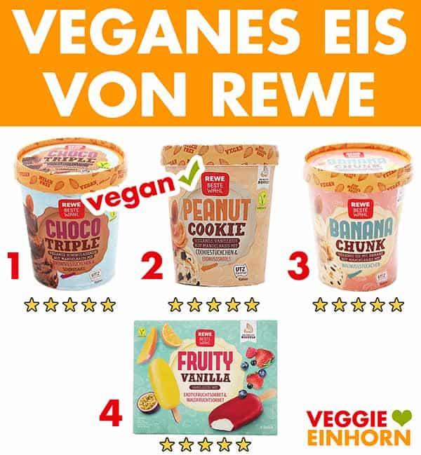 Vegane Eissorten von Rewe