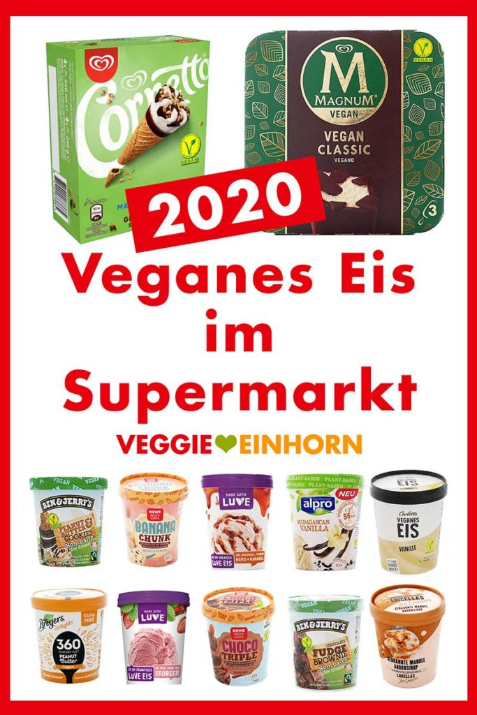 Veganes Eis aus dem Supermarkt
