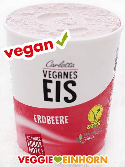 Veganes Erdbeereis von Carlotta