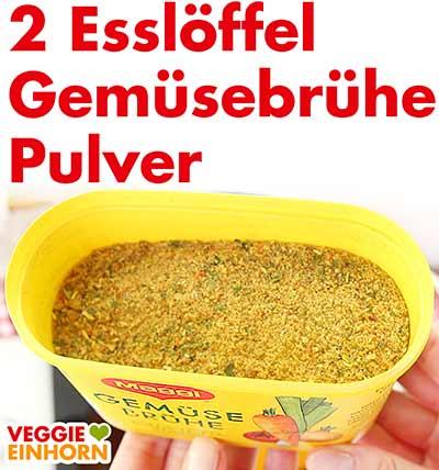Eine Packung veganes Gemüsebrühe Pulver von Maggi