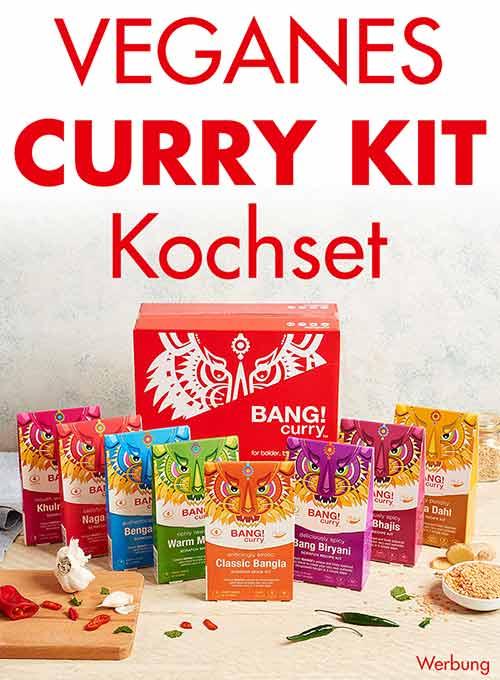 Geschenkset mit veganem Curry