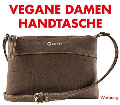 Vegane Damen Handtasche aus Korkleder