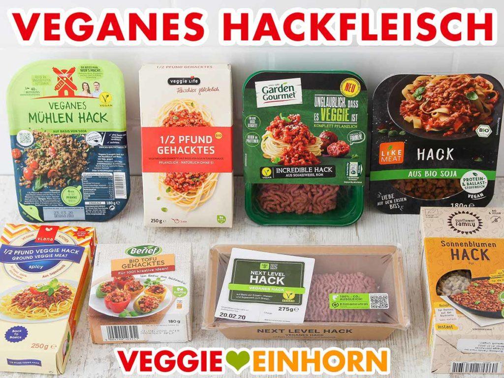 Packungen mit vegetarischem Hackfleisch aus dem Supermarkt