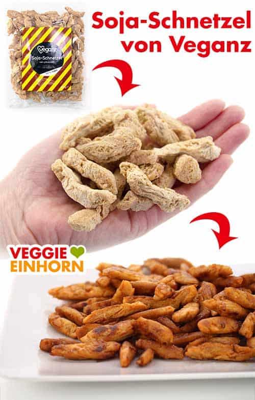 Veganes Hähnchen aus groben Sojaschnetzeln von Veganz