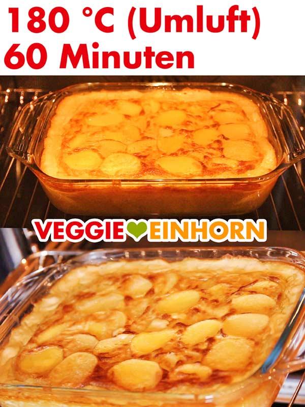 Veganes Kartoffelgratin im Backofen