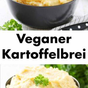 Veganes Kartoffelpüree mit Petersilie dekoriert