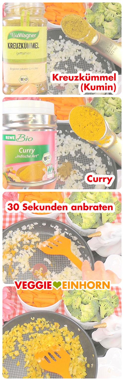 Kreuzkümmel und Curry