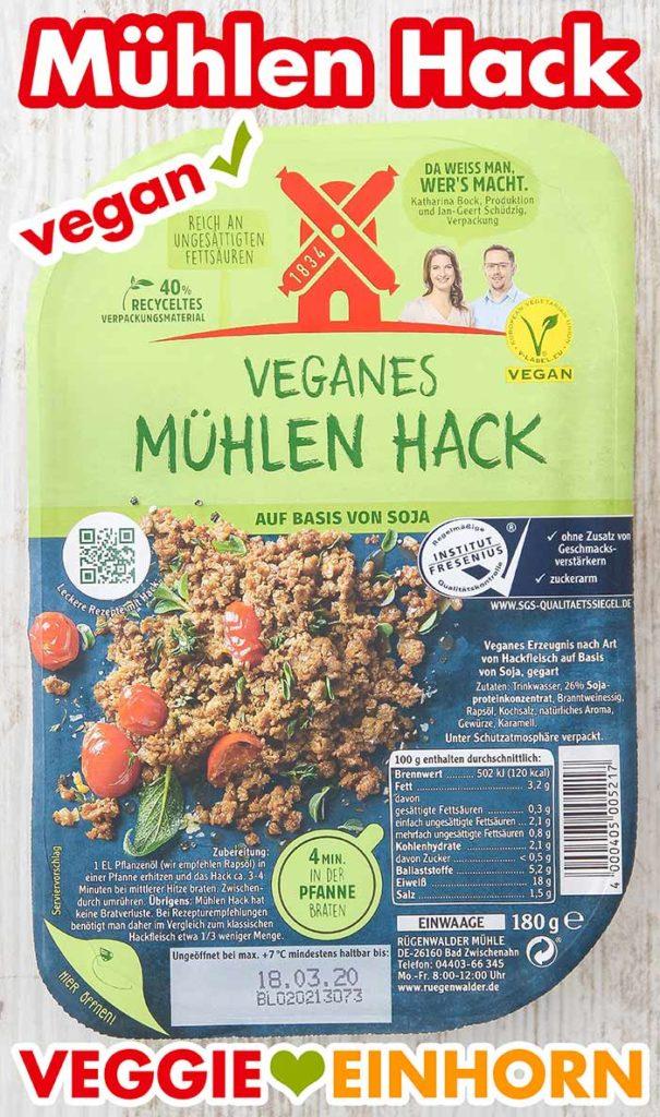 Eine Packung vegetarisches Mühlen Hack