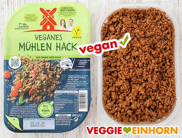Zwei Packungen veganes Mühlen Hack