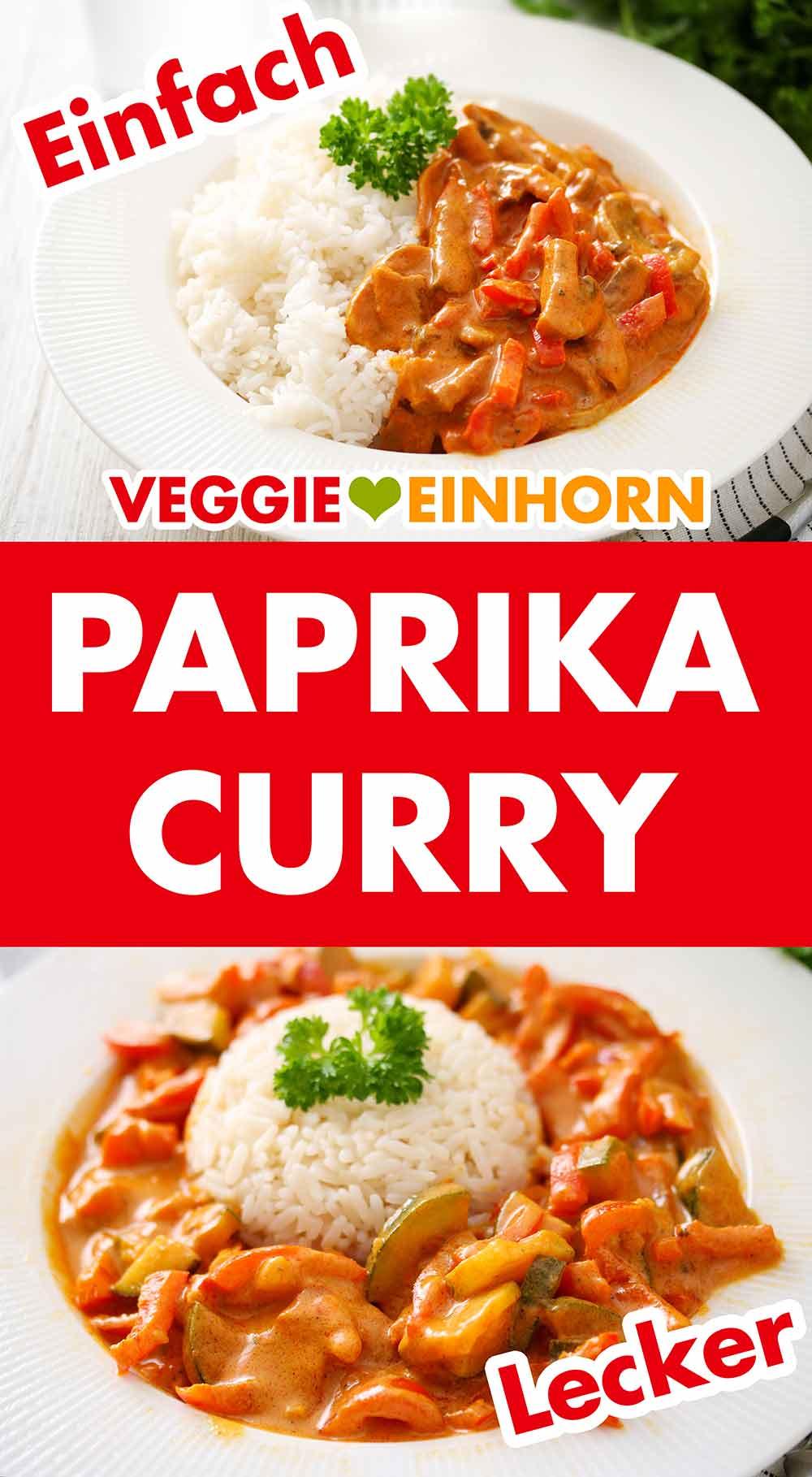 Veganes Paprika Curry mit Reis