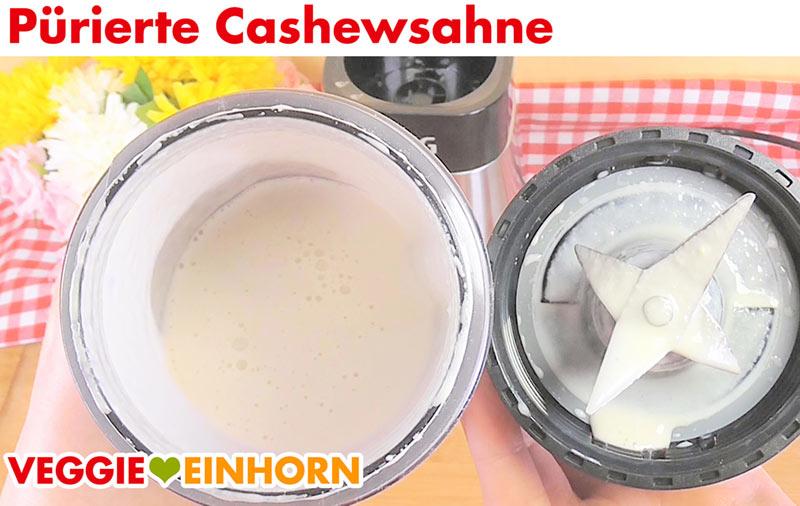 Fertig gemixte Cashewsahne