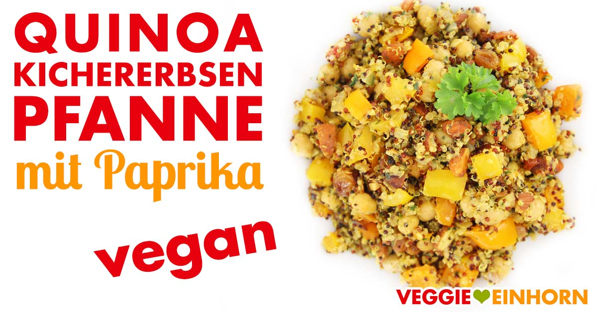 vegane quinoa kichererbsen pfanne mit paprika leckeres rezept mit video. Black Bedroom Furniture Sets. Home Design Ideas