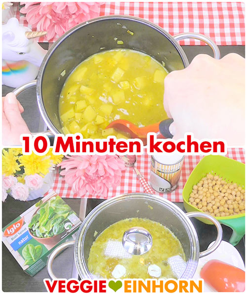 Suppe 10 Minuten kochen lassen