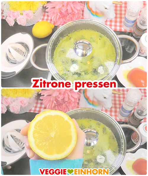 Suppe abschmecken mit Zitrone