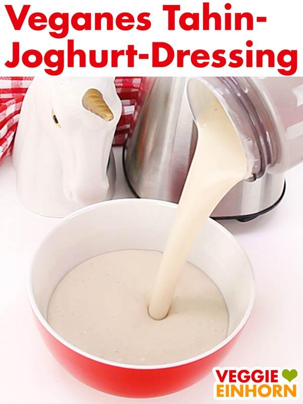 Veganes Tahin Joghurtdressing