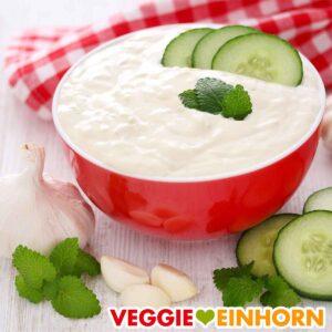 Veganes Zaziki mit Cashews und Tofu