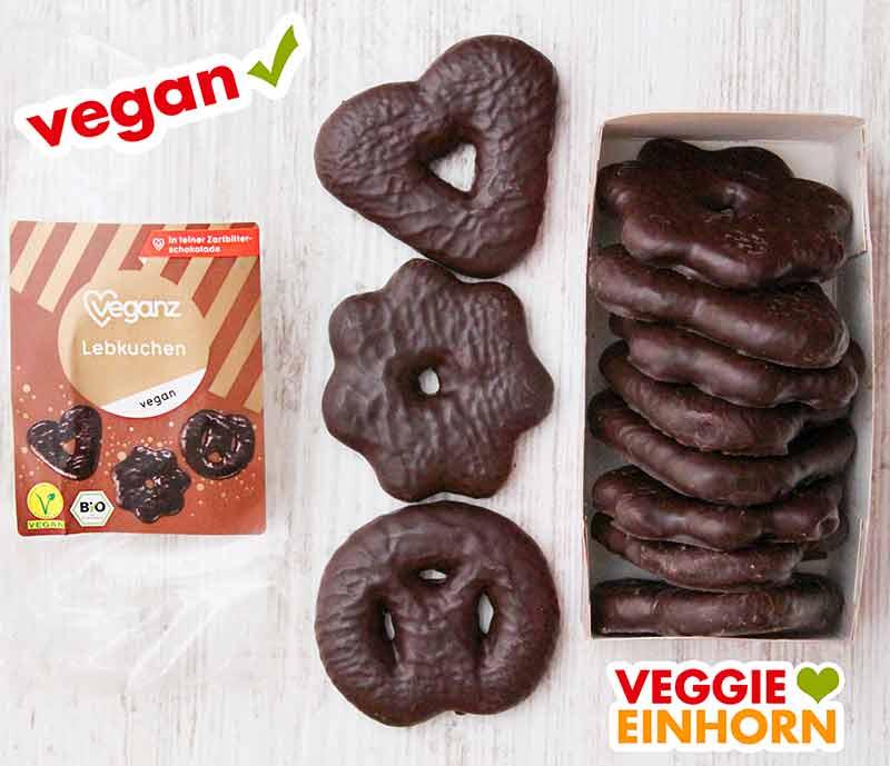 Eine geöffnete Packung vegane Lebkuchen von Veganz