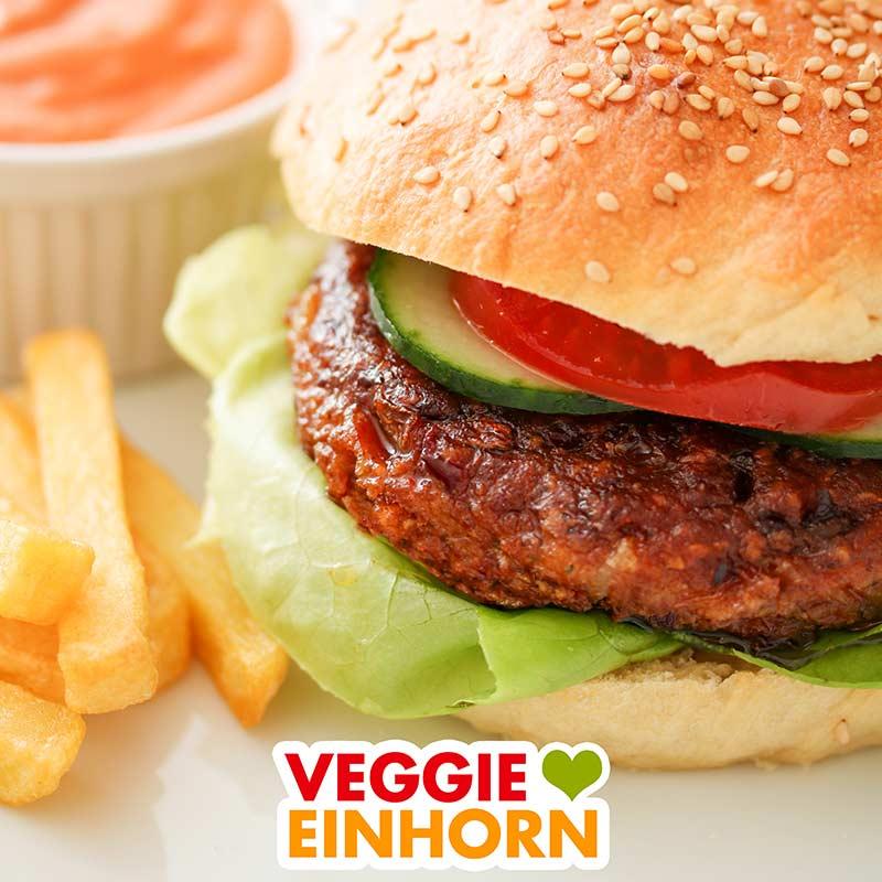 Veganer Burger mit einem Patty aus Kidneybohnen
