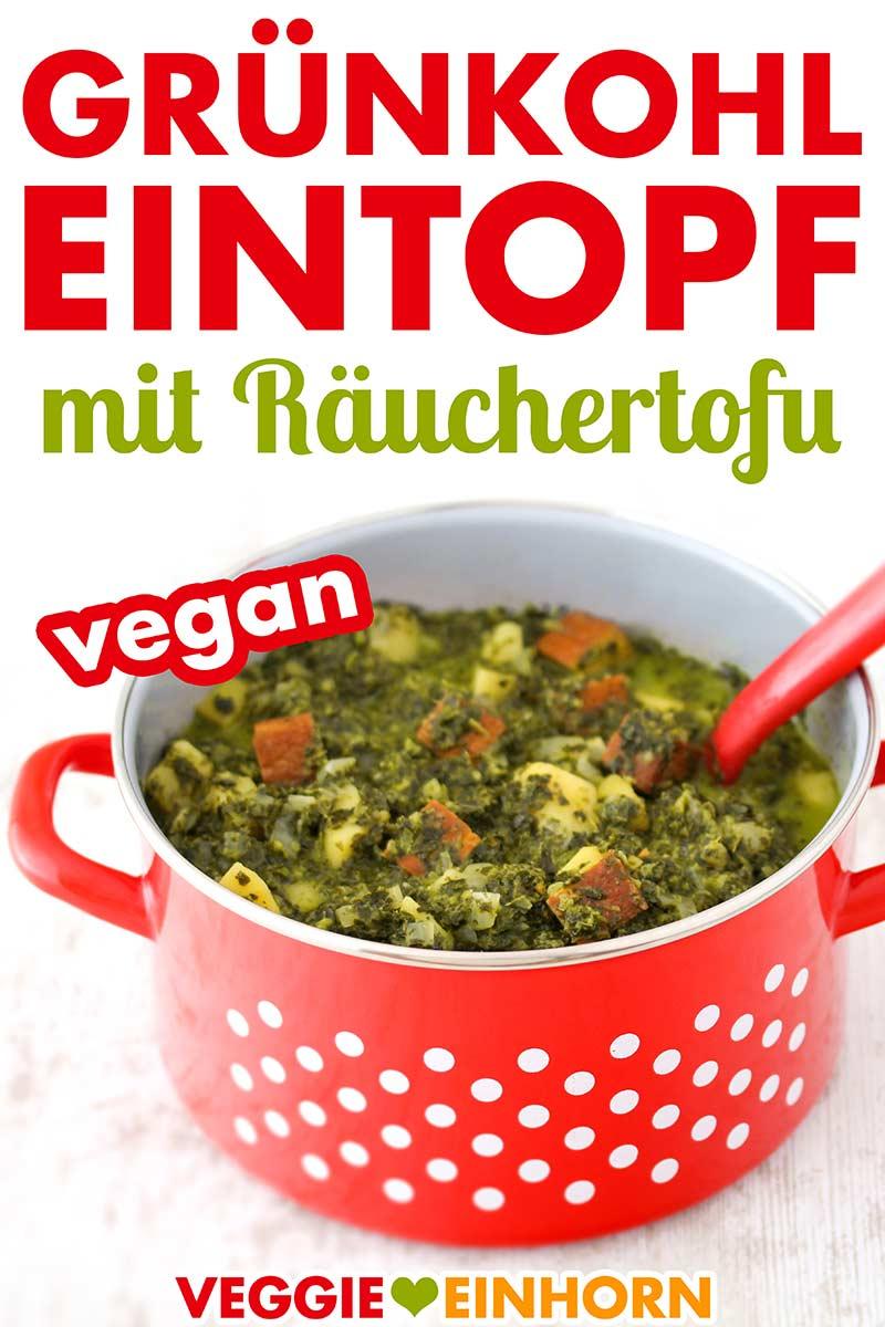 Vegetarischer Grünkohleeintopf mit Räuchertofu