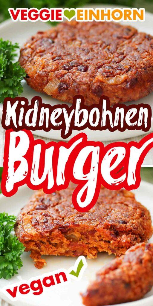 Burger Patties aus Kidneybohne auf einem Teller
