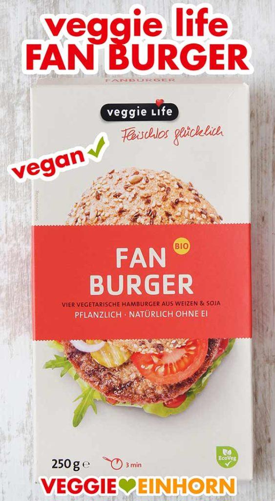 Eine Packung Veggie Life Fanburger