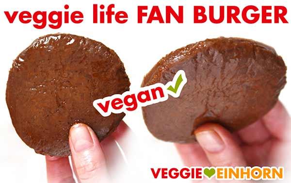 Veggie Life Fan Burger ungebraten