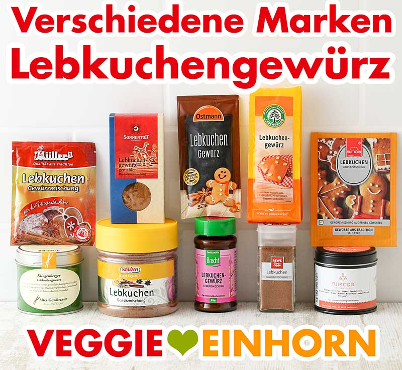Packungen mit Lebkuchengewürz von verschiedenen Marken