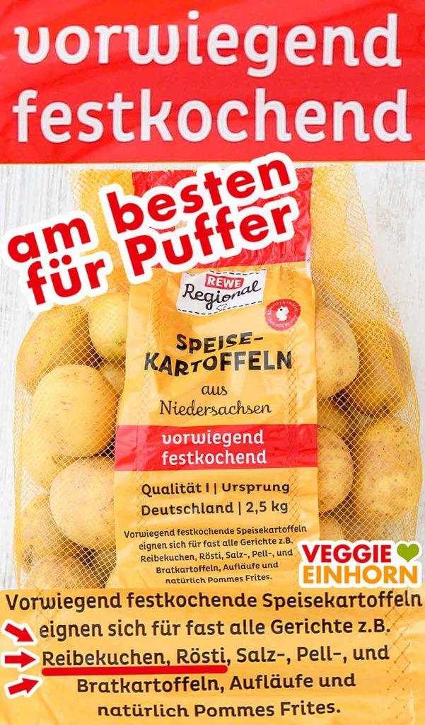 Vorwiegend festkochende Kartoffeln