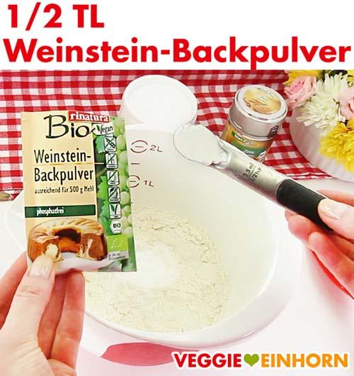 Weinstein-Backpulver für Zucchinibrot