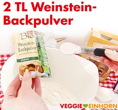 Weinsteinbackpulver für vegane Nussecken