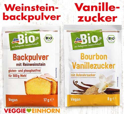 Weinsteinbackpulver und Vanillezucker