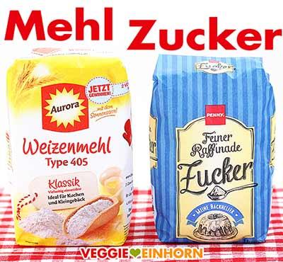 Weizenmehl Type 405 und Zucker