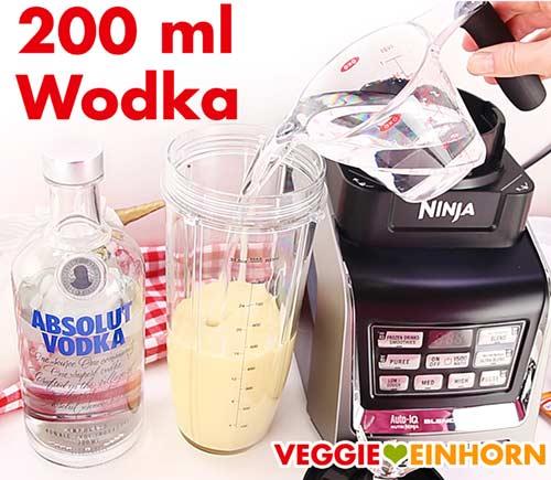 Wodka für veganen Eierlikör