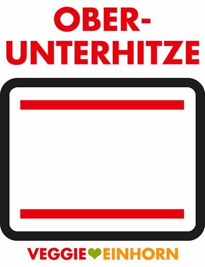 Symbol für Ober-Unterhitze