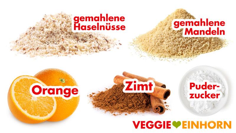 Zutaten für vegane Zimtsterne