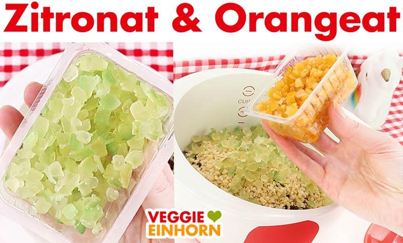 Zitronat und Orangeat für veganen Stollen