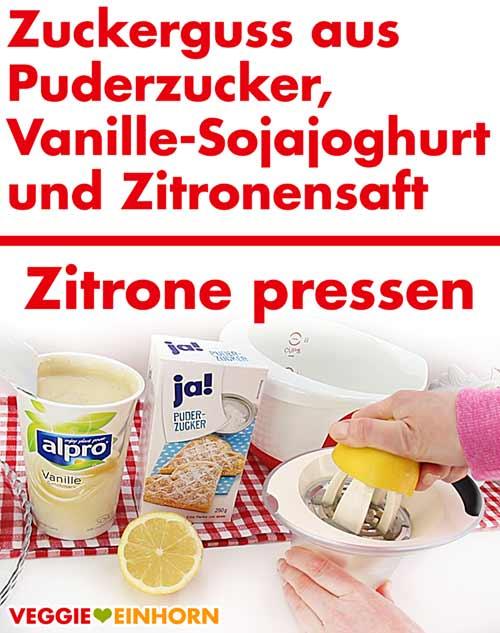 Zitrone pressen für Topping