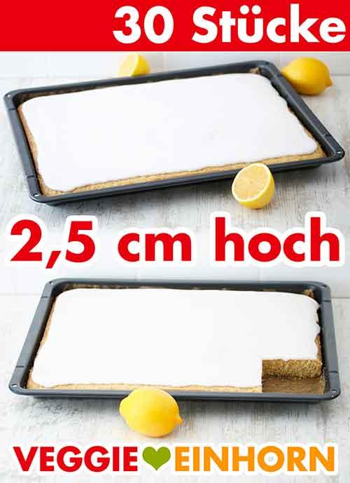 Ein Ofenblech mit veganem Zitronen Blechkuchen