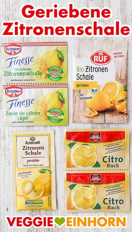 Zitronenabrieb von Dr. Oetker und anderen Marken