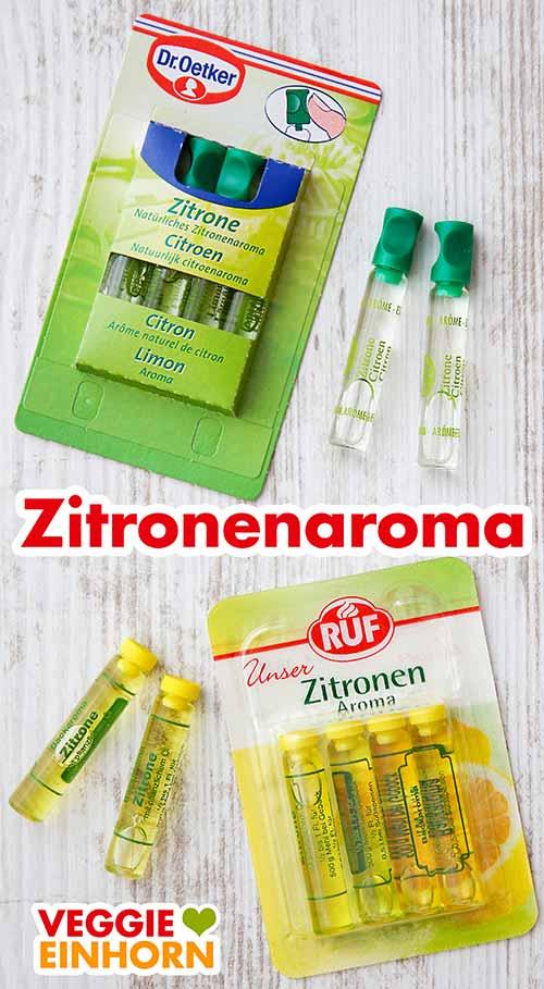Natürliches Zitronenaroma von Dr. Oetker und RUF
