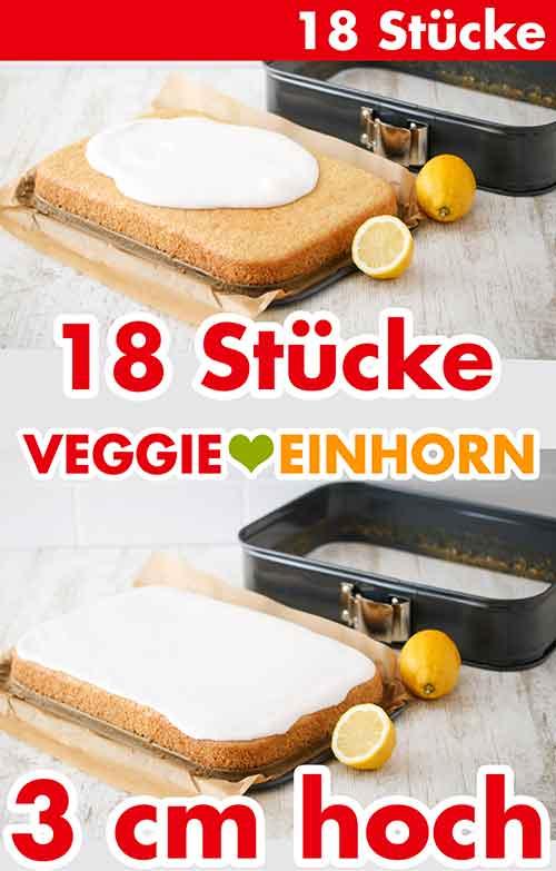 Veganer Blechkuchen mit Zuckerguss aus der rechteckigen Springform