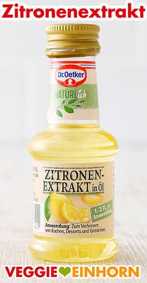 Eine Flasche Zitronenextrakt von Dr. Oetker