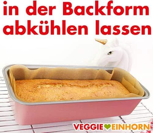 Kuchen in der Backform abkühlen lassen