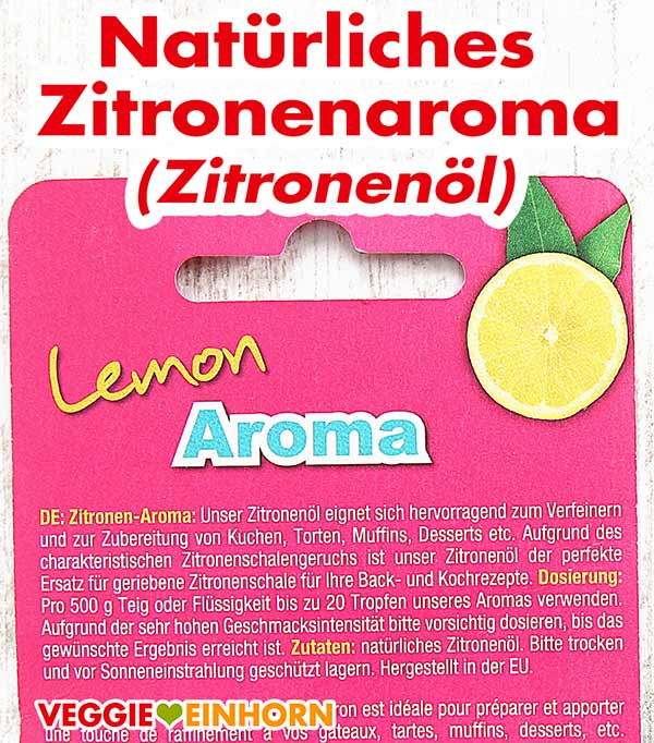 Zutaten Zitronenaroma Zitronenöl