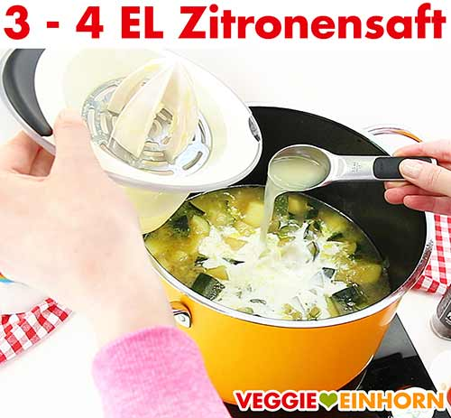 Zitronensaft zufügen