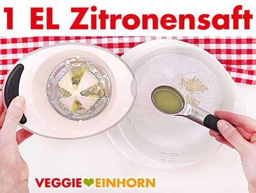 Zitronensaft für Zuckerguss