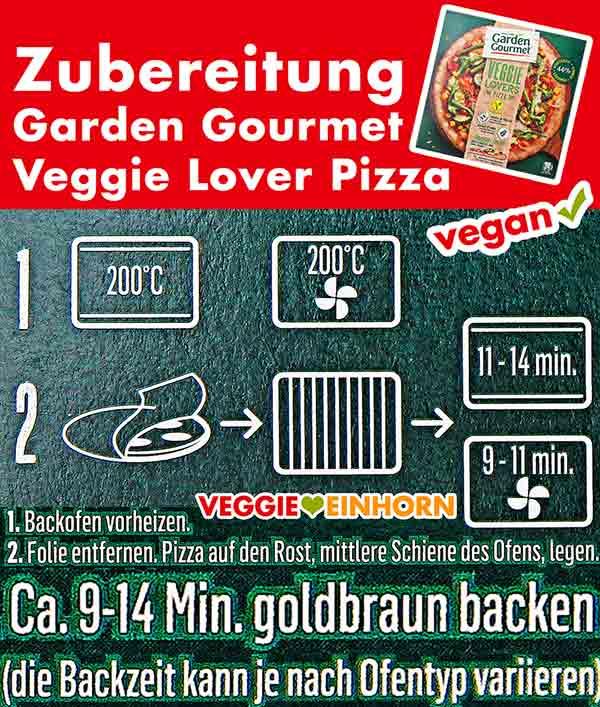Zubereitung Garden Gourmet Veggie Lover Pizza
