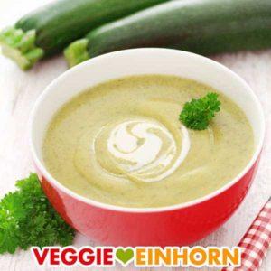 Zucchinisuppe mit Kartoffeln vegan